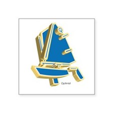 Optimist dinghy Square Sticker