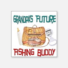 Grandpa's Future Fishing Budd Square Sticker
