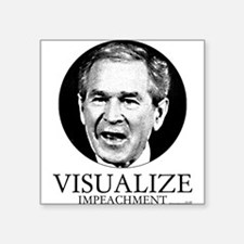 Visualize Impeachment Square Sticker