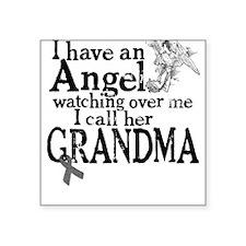Brain Cancer Grandma Angel Square Sticker