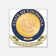 Louisiana Seal Square Sticker
