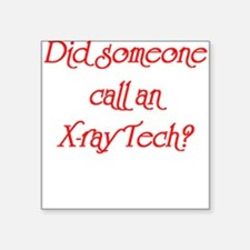 X-Ray Tech Square Sticker