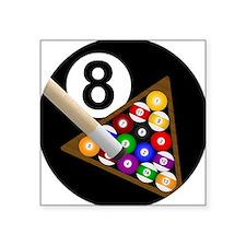 8 Ball Square Sticker