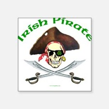 Irish Pirate Square Sticker