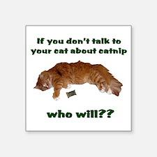 Catnip Square Sticker