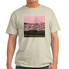 Wychmere Harbor Sunrise Ash Grey T-Shirt - 2 pix