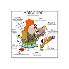 The Falconer Square Sticker
