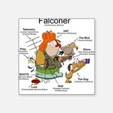 The Falconer Square Sticker