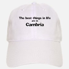 Cambria: Best Things Baseball Baseball Cap