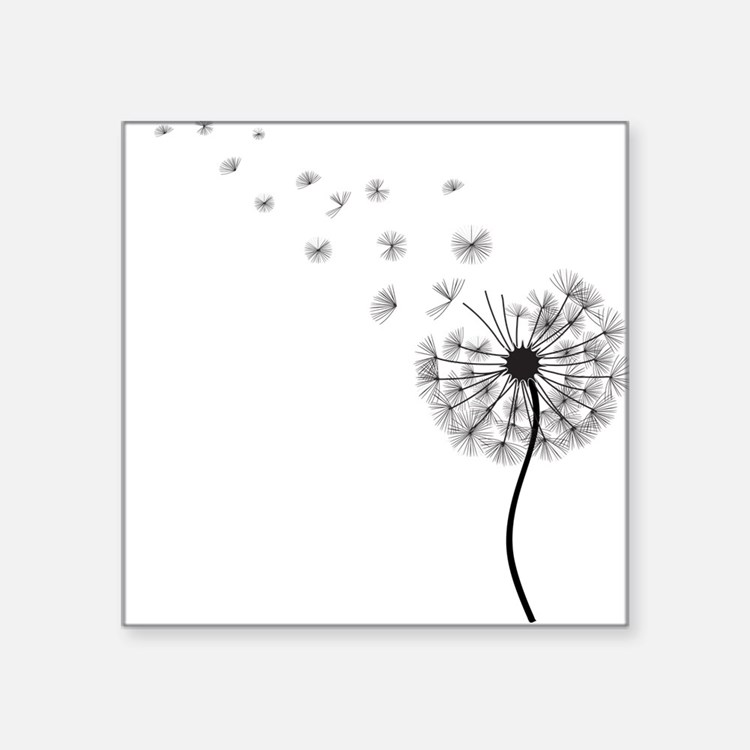 Blowing Dandelion Bumper Stickers Car Stickers Decals