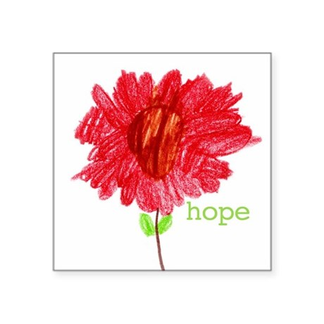 HOPE Square Sticker