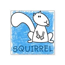 Squirrel Square Sticker
