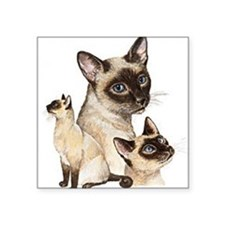 Siamese Cats Square Sticker