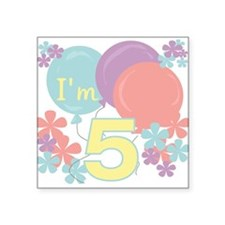 5th Pastel Birthday Square Sticker