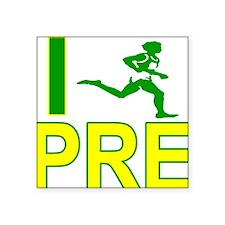 I Run PRE Square Sticker