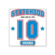Virginia 10 Square Sticker