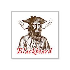 Red Blackbeard Square Sticker