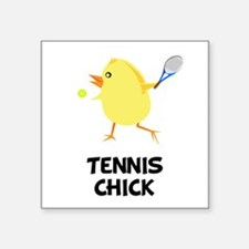 Tennis Chick Square Sticker