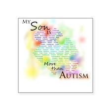 More than Autism (Son) Square Sticker