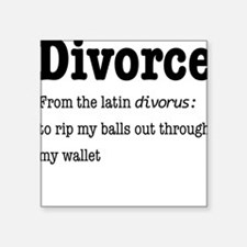 Classic Shaq Divorce Tee | Square Sticker