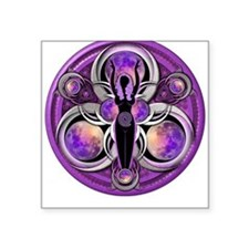 Goddess of the Purple Moon Square Sticker