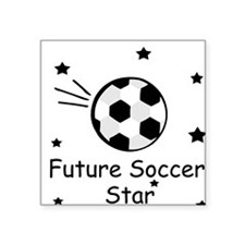 Future Soccer Star Square Sticker