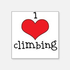 I Love Climbing Square Sticker