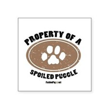 Puggle dog Square Sticker