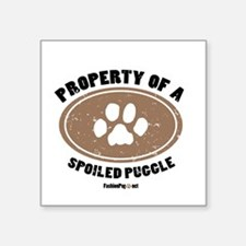 Puggle dog Square Sticker