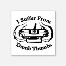 Dumb Thumbs Square Sticker