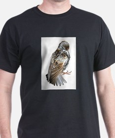 starling on white T-Shirt