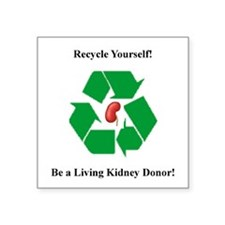 Living Kidney Donor Square Sticker