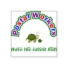 Postal Worker Square Sticker