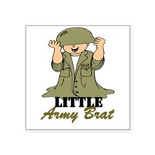 Army BRAT Little Soldier Square Sticker
