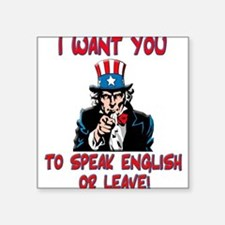 I Want You Square Sticker