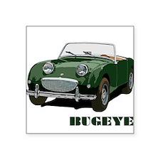 Green Bugeye Square Sticker