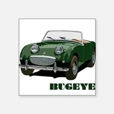 Green Bugeye Square Sticker