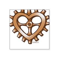 Heart-Shaped Gear Square Sticker