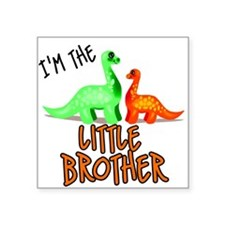 little brother dinosaur Square Sticker