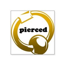 Pierced Square Sticker