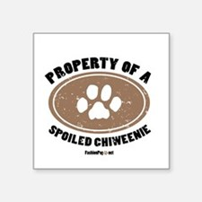 Chiweenie dog Square Sticker