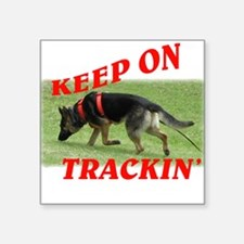 GSD tracking dog Square Sticker
