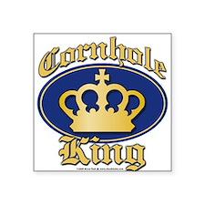 Cornhole King Square Sticker
