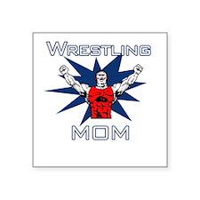 Wrestling Mom Square Sticker