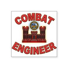 US Army Combat Engineer Brick Square Sticker
