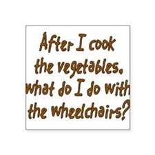 Cook Vegetables Square Sticker