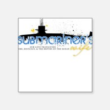 Submariner's Wife Square Sticker
