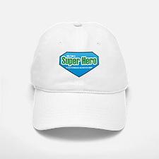 Super Hero in Green and Blue Baseball Baseball Cap