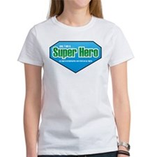 Super Hero in Green and Blue Tee