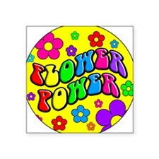 FLOWER POWER Square Sticker